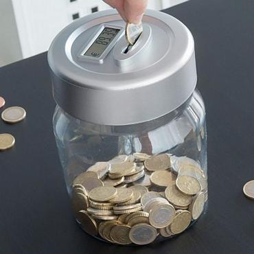 Κουμπαράς με ψηφιακό μετρητή για Ευρώ