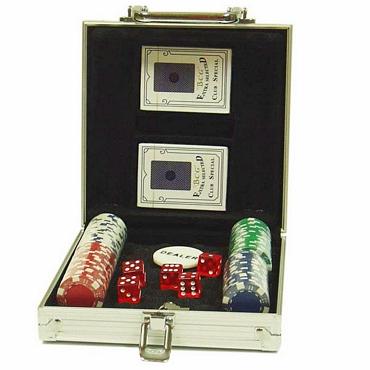 Βαλίτσα Πόκερ με 100 μάρκες και 2 τράπουλες