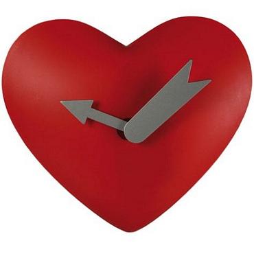 Ρολόι τοίχου με σχήμα καρδιά