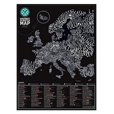 Gourmet Scratch Map - Χάρτης συνταγών διακοσμητικά   αφίσες   πόστερ