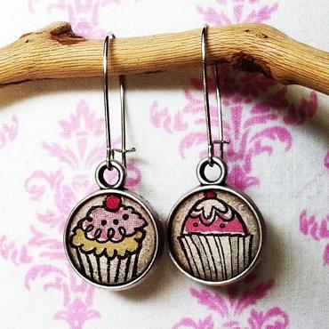 Σκουλαρίκια cupcakes αξεσουάρ   μπιζού