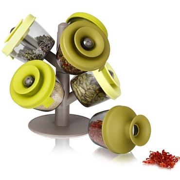 Βάση με δοχεία μπαχαρικών είδη σπιτιού   είδη κουζίνας   αξεσουάρ κουζίνας