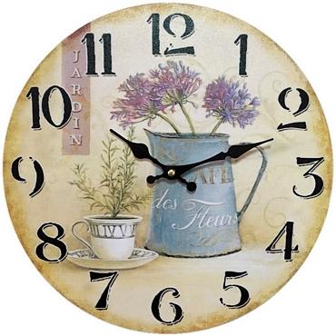 Ρολόι τοίχου Cafe Des Fleurs - 30 εκ.