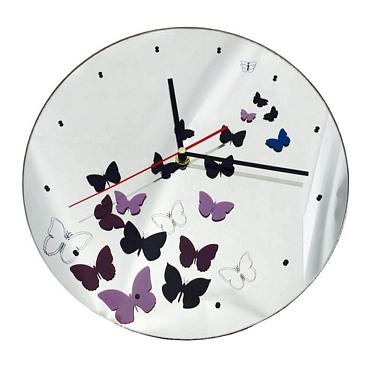 Ρολόι τοίχου Καθρέφτης με πεταλούδες - 30 εκ.