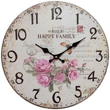Ρολόι τοίχου Happy family - 30 εκ.