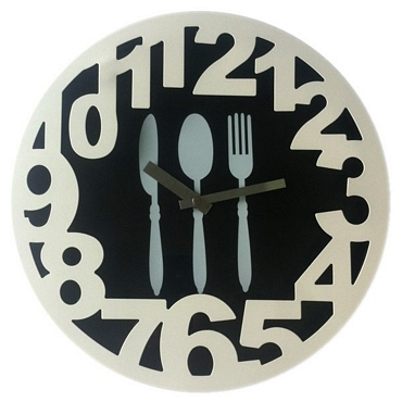 Ρολόι τοίχου - Μαχαιροπήρουνα Wall Clock - Cutlery, kitchen clocks, wall clocks, large watches, decorative clocks, clocks decoration ideas, watches gifts, design watches, economical wall clocks, turntable, vinyl, math, music, tv, table, smart phone, iphone