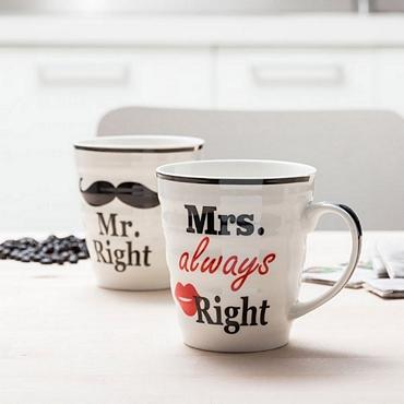 Σετ 2 κούπες - Mr. Right & Mrs. always right