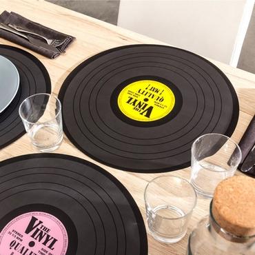 Σετ 4 σουπλά - Δίσκοι βινυλίου είδη σπιτιού   είδη κουζίνας   αξεσουάρ κουζίνας