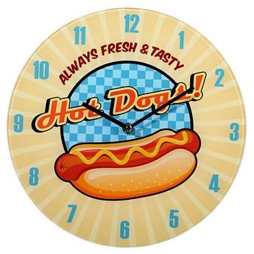 Ρολόι τοίχου Hot Dogs - 30 εκ.
