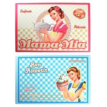 Σετ 2 σουπλά - Bon Appetit - Mama Mia είδη σπιτιού   είδη κουζίνας   αξεσουάρ κουζίνας