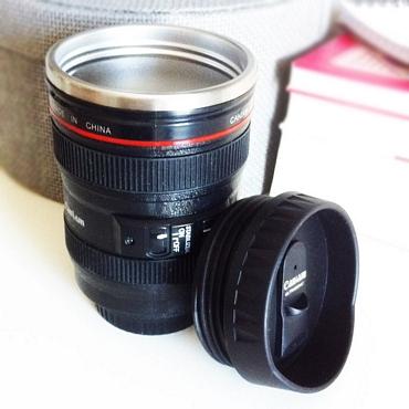 Κούπα θερμός - Φακός φωτογραφικής μηχανής
