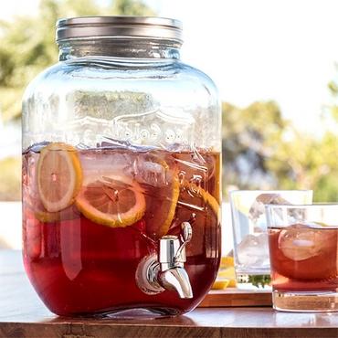 Γυάλινο βάζο με βρυσάκι είδη σπιτιού   είδη κουζίνας   αξεσουάρ ποτών