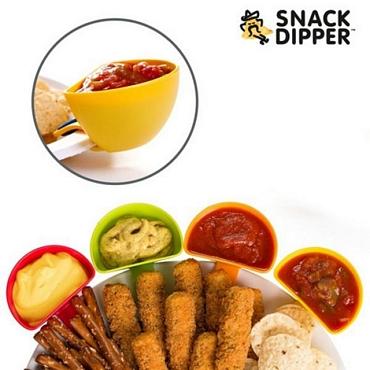 Μπολάκια για σάλτσες με πιαστράκια (σετ με 4) - Snack Dipper είδη σπιτιού   είδη κουζίνας   αξεσουάρ κουζίνας