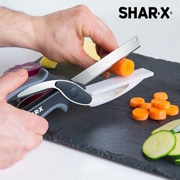 Ψαλίδι - Μαχαίρι με μίνι ενσωματωμένη σανίδα κοπής - Shar·X είδη σπιτιού   είδη κουζίνας   αξεσουάρ κουζίνας