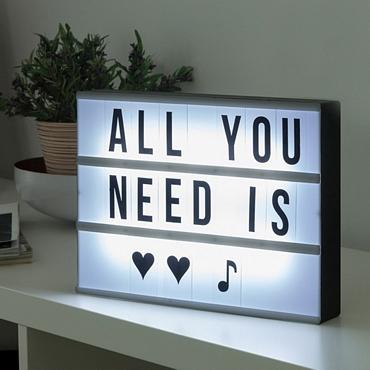 Πίνακας μηνυμάτων με LED φωτισμό - 30 εκ.
