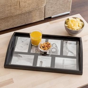 Δίσκος σερβιρίσματος με θέσεις φωτογραφιών είδη σπιτιού   είδη κουζίνας   αξεσουάρ κουζίνας