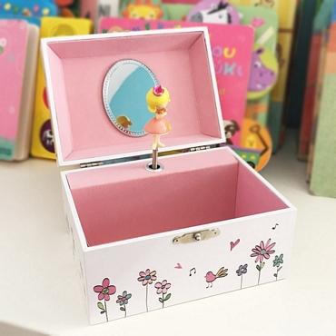 Κουρδιστή μπιζουτιέρα πριγκίπισσα διακοσμητικά   μουσικά κουτιά   καρουζέλ