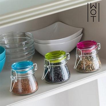 Σετ 3 γυάλινα βάζα vintage colors είδη σπιτιού   είδη κουζίνας   αξεσουάρ κουζίνας