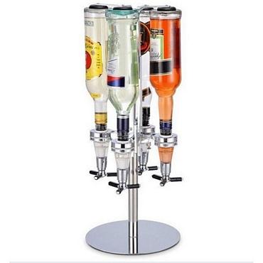 Τετραπλός περιστρεφόμενος διανομέας ποτών με δοσομετρητή είδη σπιτιού   είδη κουζίνας   αξεσουάρ ποτών