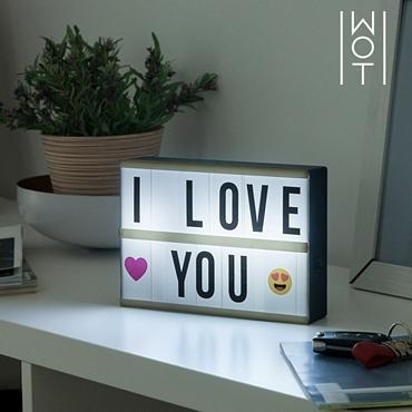 Πίνακας μηνυμάτων με LED φωτισμό - 21 εκ.
