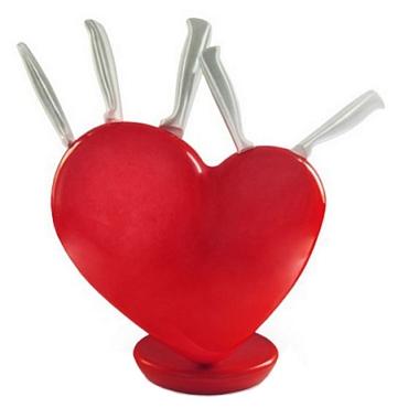 Σετ μαχαιριών με βάση σε σχήμα καρδιάς είδη σπιτιού   είδη κουζίνας   αξεσουάρ κουζίνας