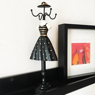 Κοσμηματοθήκη μπούστο - Φόρεμα με καπέλο διακοσμητικά   θήκες   βάσεις