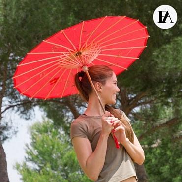 Ομπρέλα από μπαμπού - Λουλούδια αξεσουάρ   outdoor   είδη camping