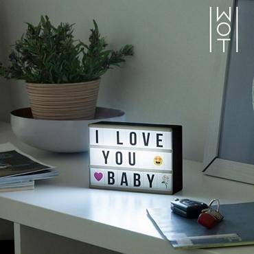 Πίνακας μηνυμάτων με LED φωτισμό - 15 εκ. διακοσμητικά   επιτραπέζια φωτιστικά