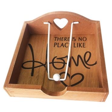 Ξύλινη θήκη για χαρτοπετσέτες - Home
