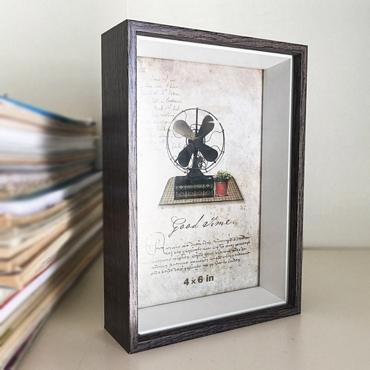 Ξύλινη κορνίζα σε μοντέρνο στυλ σκούρο καφέ - 15 x 20 εκ.