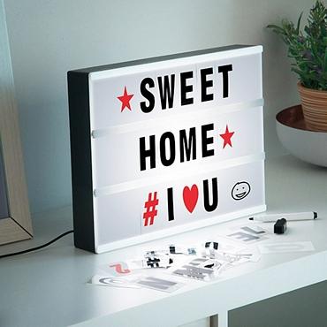 Πίνακας μηνυμάτων με LED φωτισμό 30 εκ. - Με γράμματα και μαρκαδόρο