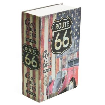 Βιβλίο μυστική θήκη Route 66 - 26 εκ.