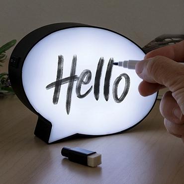 Πίνακας μηνυμάτων με LED φωτισμό - 15 εκ.