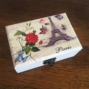 Ξύλινη μπιζουτιέρα με καθρέπτη - Paris