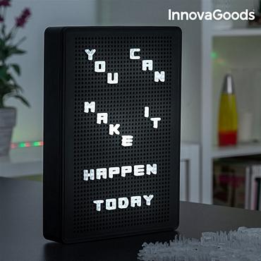 Πίνακας μηνυμάτων - Πάνελ με λευκά LED γράμματα