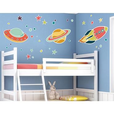 Αυτοκόλλητο τοίχου XL για παδικό δωμάτιο UFO