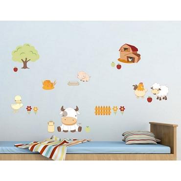 Αυτοκόλλητο τοίχου L για παδικό δωμάτιο Baby Farm