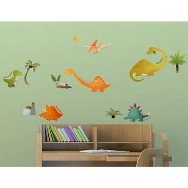 Αυτοκόλλητο τοίχου L για παδικό δωμάτιο Dinosaurs