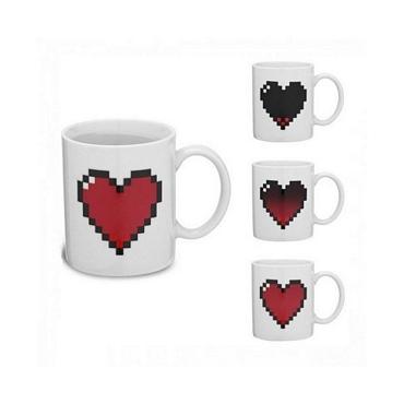 Μαγική κούπα - Καρδιά Pixel