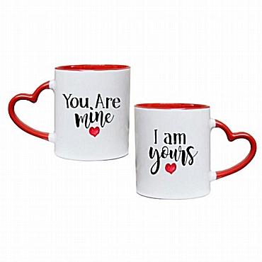 Σετ κούπες καρδιά You are mine-I am yours
