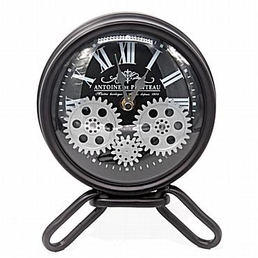 Επιτραπέζιο ρολόι με γρανάζια και μίνι τρίποδα