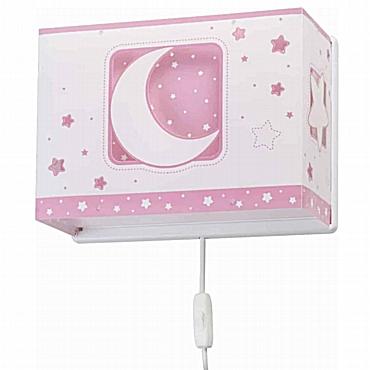 MoonLight Pink απλίκα τοίχου διπλού τοιχώματος