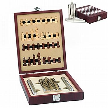 Σετ σκάκι με φλασκί και πουροθήκες