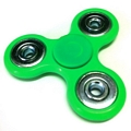Anti Stress Fidget Spinner Three Leaves Silver Circles