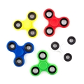 Anti Stress Fidget Spinner Three Leaves Black Circles