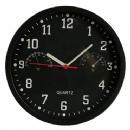 Ρολόι τοίχου με θερμόμετρο και υγρόμετρο | Μαύρο
